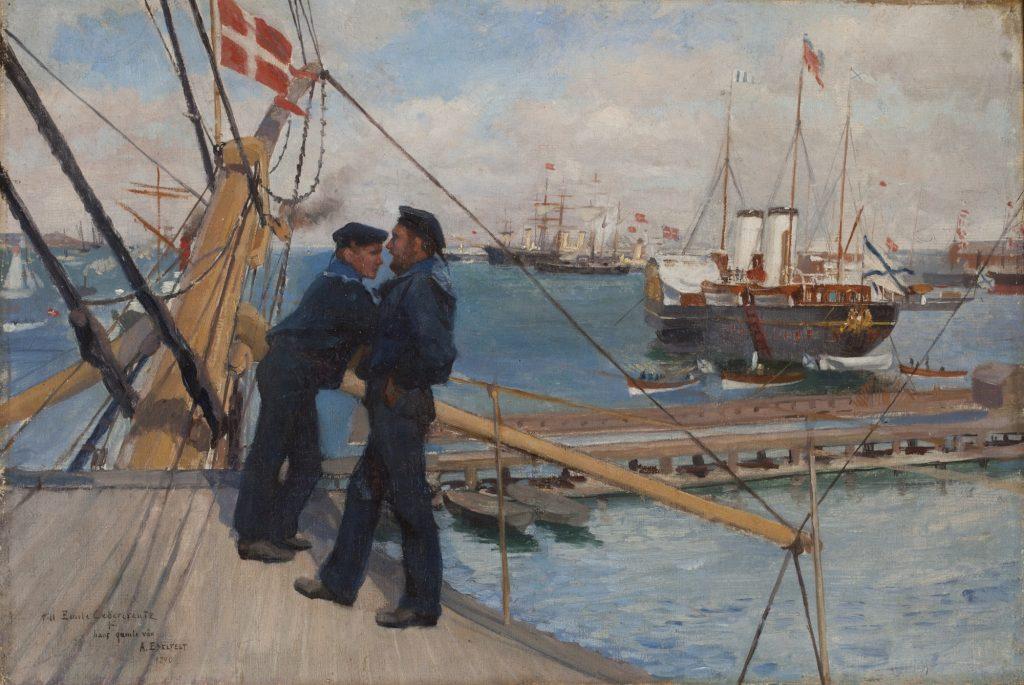 Albert Edelfelt, Från Köpenhamns redd III, 1890, olja på tyg, Gösta Serlachius konststiftelse. Foto: Tomi Aho