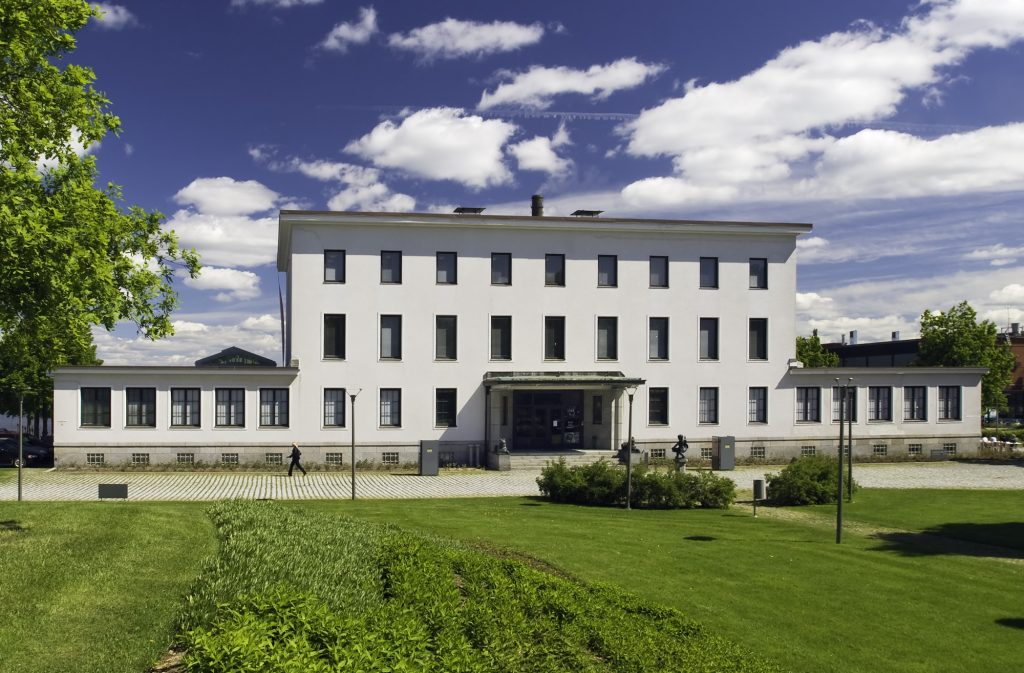 Serlachius Museum Gustaf is located in a parkland surrounded by history of one of Tampere region's first paper mills.