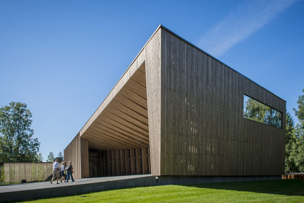 Serlachius-museo Göstan paviljonki ja sisäänkäynti