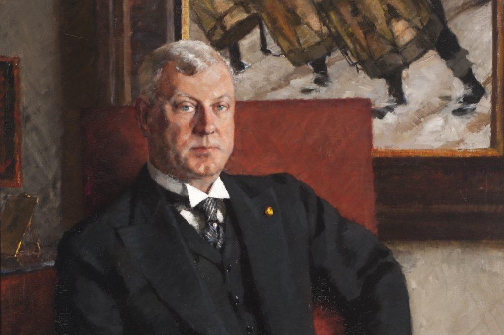Muotokuvamaalaus Gösta Serlachiuksesta