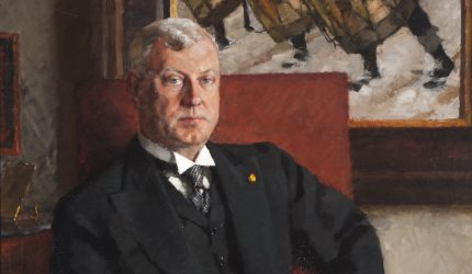 Bror Börjeson, Vuorineuvos Gösta Serlachiuksen muotokuva, 1936.