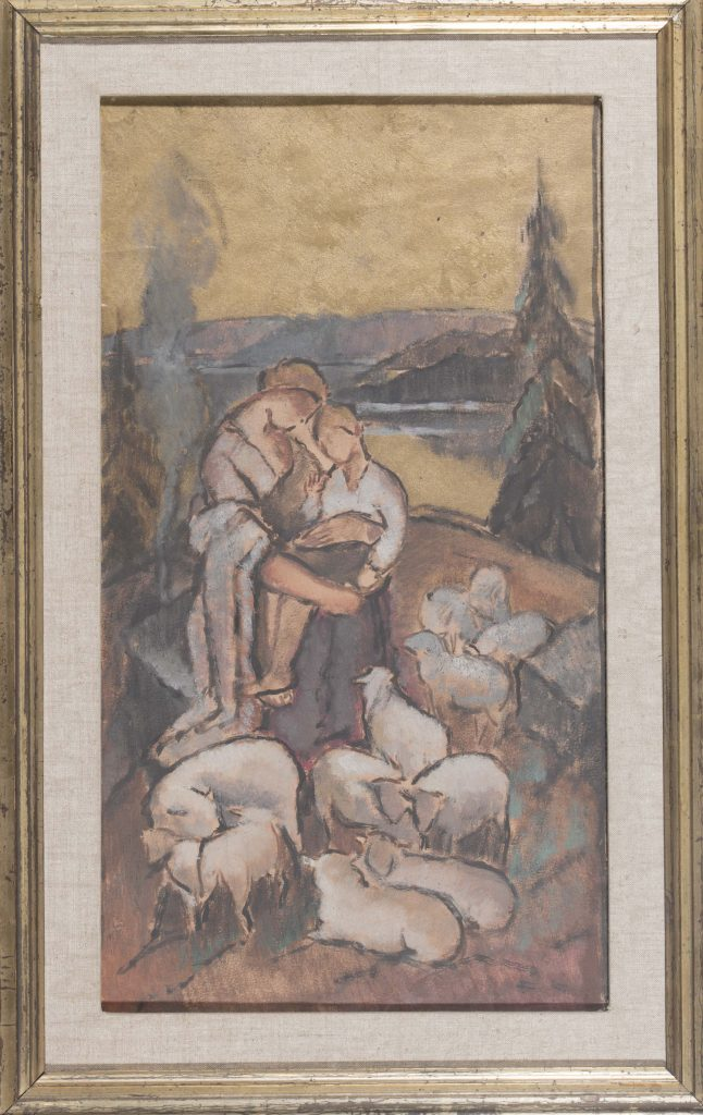 Alvar Cawén's sketch for the altarpiece in Mänttä church.