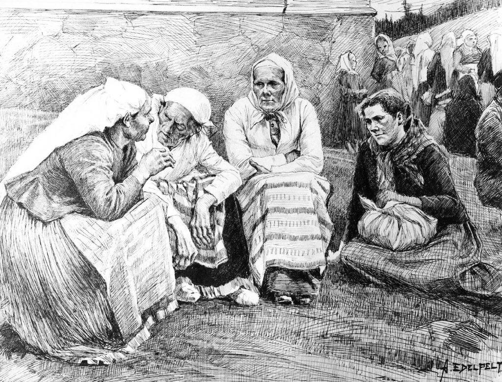 Albert Edelfelt, Ruokolahden eukkoja kirkonmäellä, n. 1888