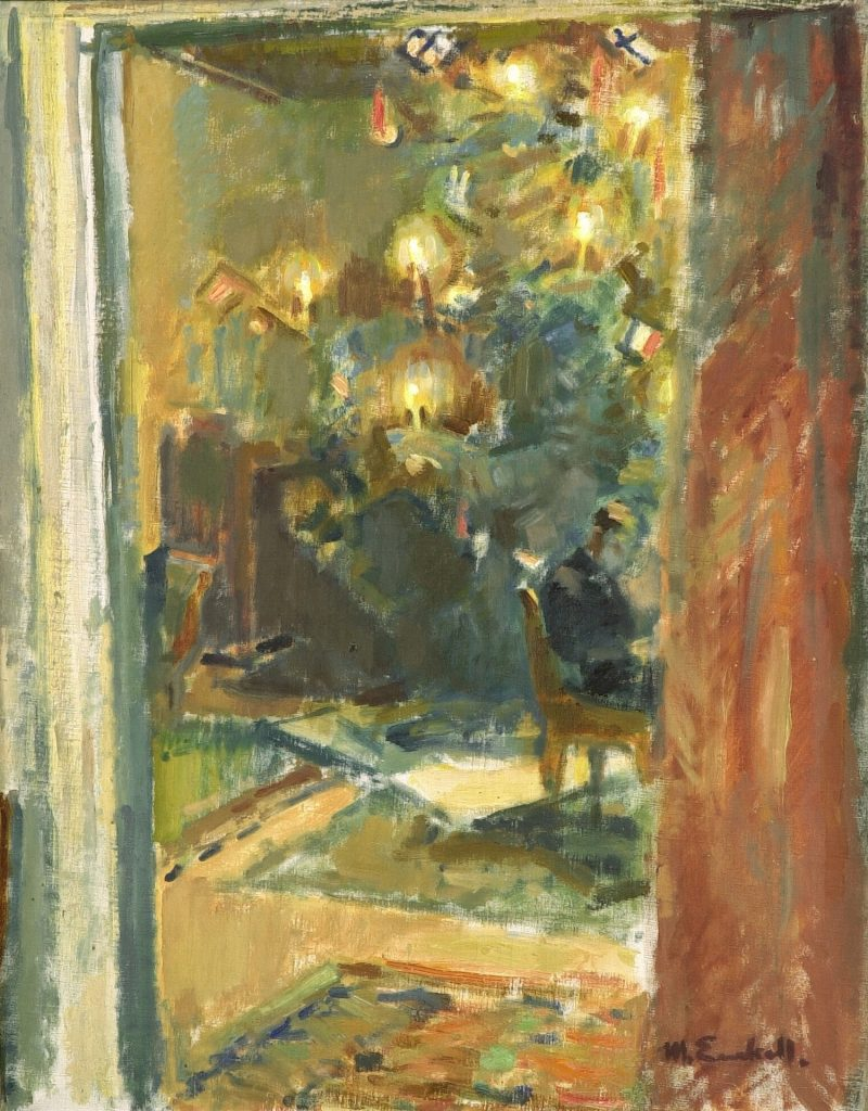 Magnus Enckell, Christmas Tree in the Salon of Kilo Manor, ca. 1919, oli on canvas, Gösta Serlachius Fine Arts Foundation. Photo: Matias Uusikylä.