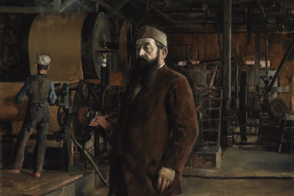 Muotokuvamaalaus Gustaf Adolf Serlachiuksesta