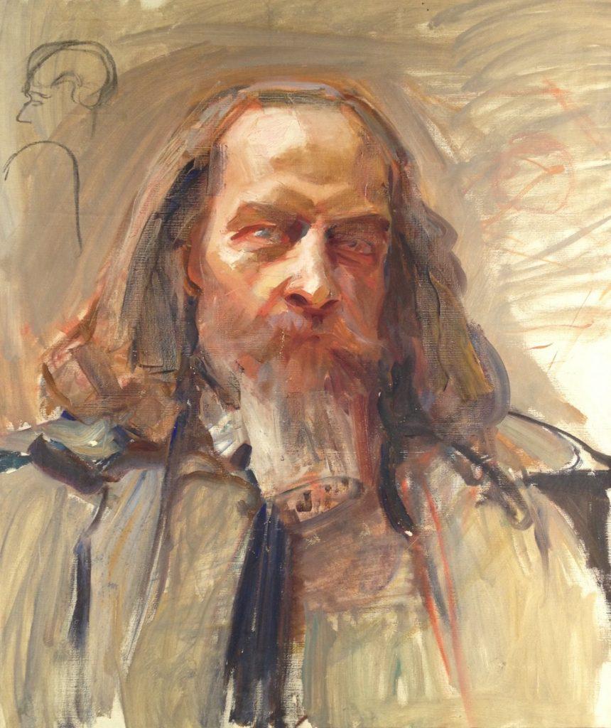 Akseli Gallen-Kallela, Porträtt av Doktor E. W. Lybeck, Gösta Serlachius konststiftelse.