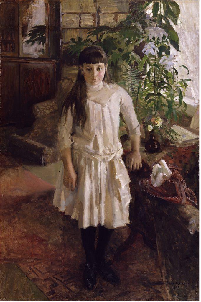 Akseli Gallen-Kallela, Sissi Serlachiuksen muotokuva, 1889, öljyväri kankaalle, Gösta Serlachiuksen taidesäätiö. Kuva: Vesa Aaltonen.