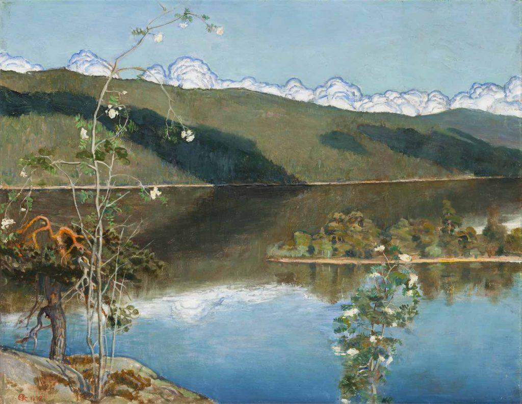Akseli Gallen-Kallelan teos, Ukkospilviä taivaanrannalla (1897).
