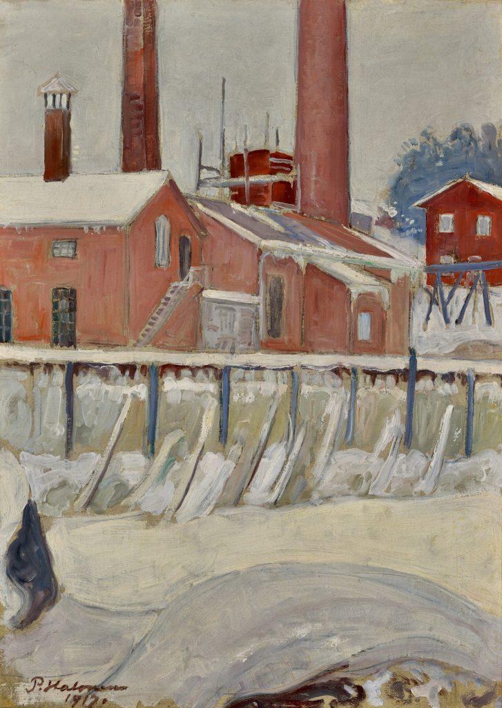 Pekka Halonen, Leppäkoski, 1917, olja på duk, Gösta Serlachius konststifltelse. Foto: Hannu Miettinen.