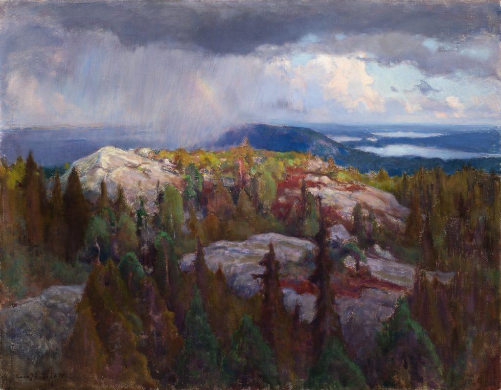 Eero Järnefelt, Koli, 1908, öljyväri kankaalle, Gösta Serlachiuksen taidesäätiö. Kuva: Vesa Aaltonen.