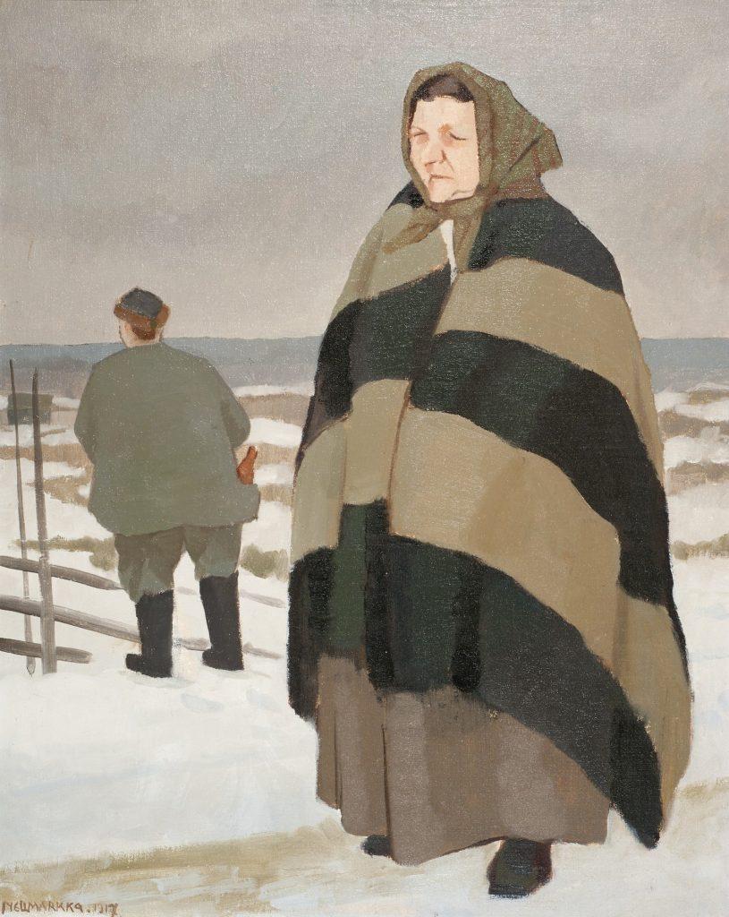 Eero Nelimarkka, Talonpoikaisväkeä, 1917, öljyväri kankaalle, Gösta Serlachiuksen taidesäätiö. Kuva: Vesa Aaltonen.