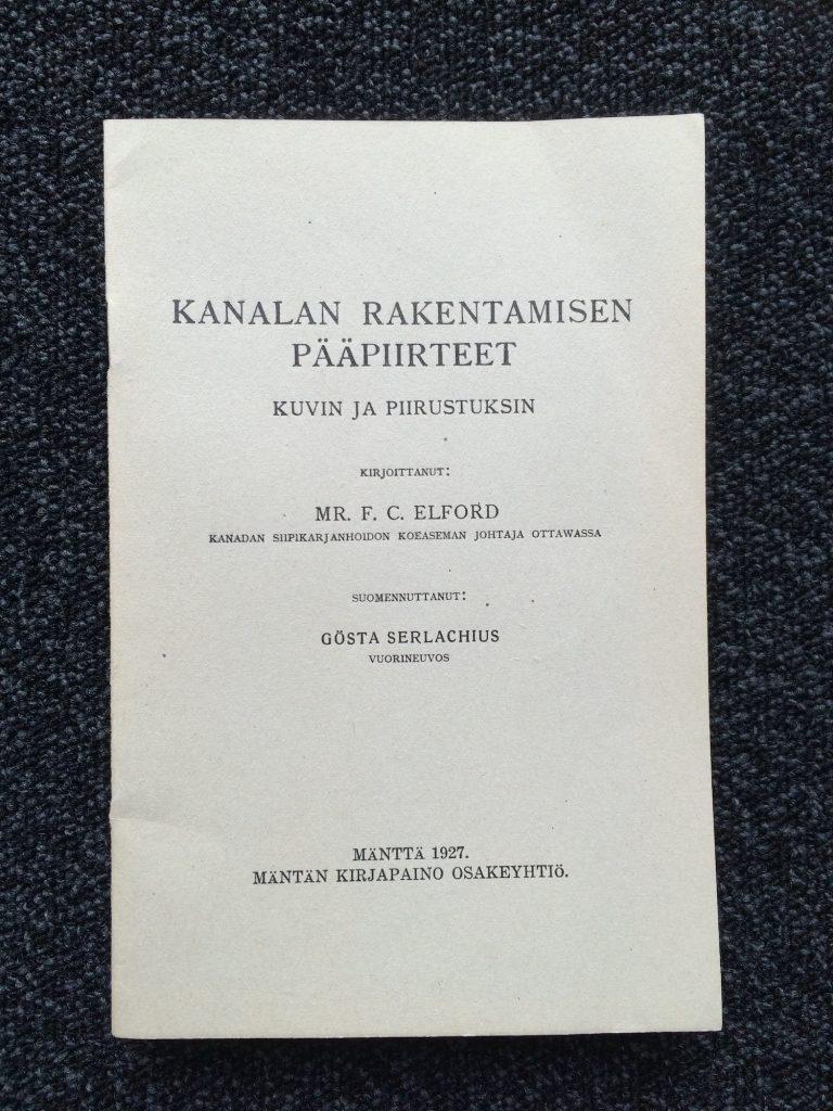 Byggandet av hönsgård i huvuddrag, 1927, Serlachiusmuseers samlingar.