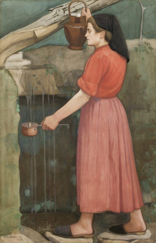 Juho Rissanen, Vuoristolähteellä, 1903
