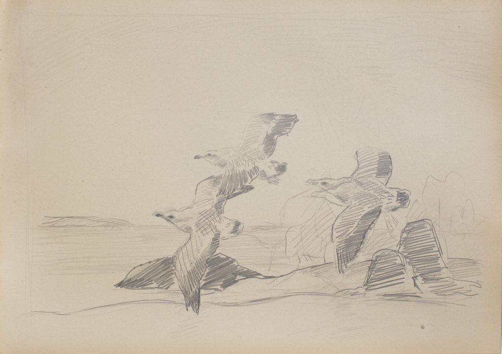 Lennart Segerstråle, Bird motif, sketch, Gösta Serlachius Fine Arts Foundation.