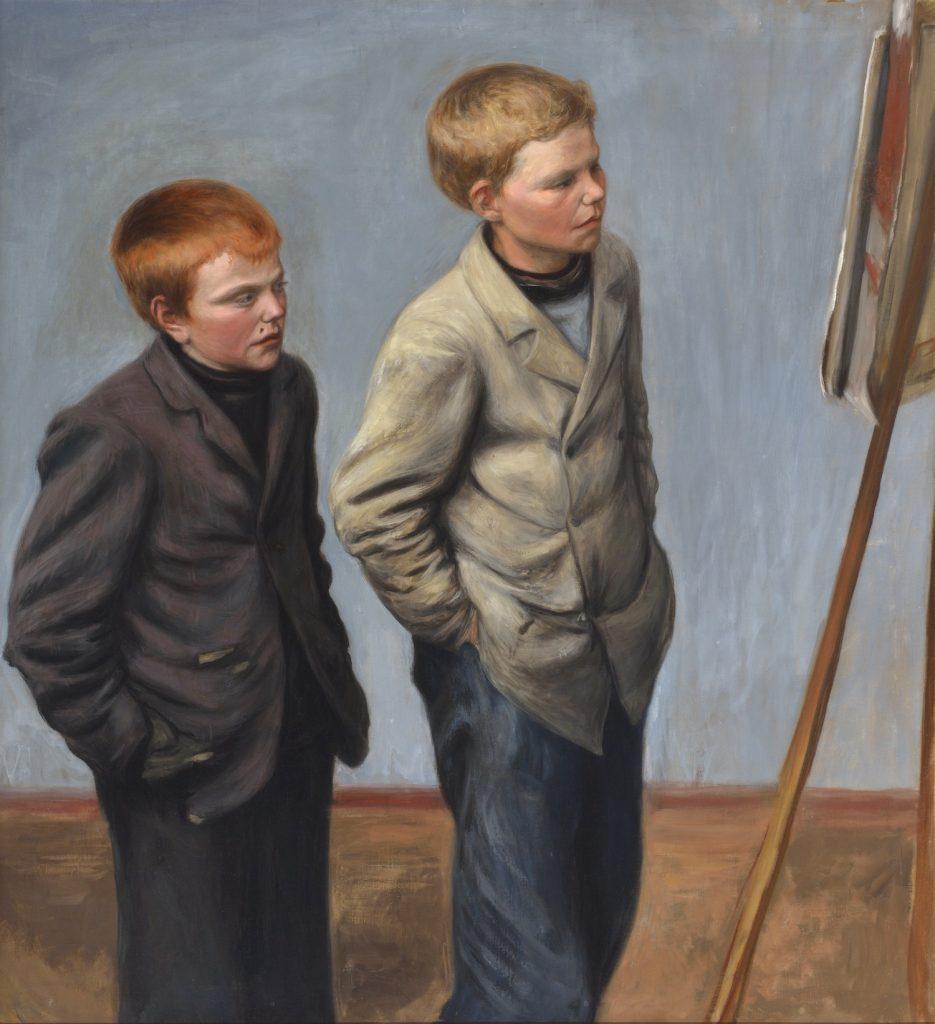 Hugo Simberg, Bröderna, 1904/1906, olja på duk, Gösta Serlachius konststiftelse. Foto: Hannu Miettinen.