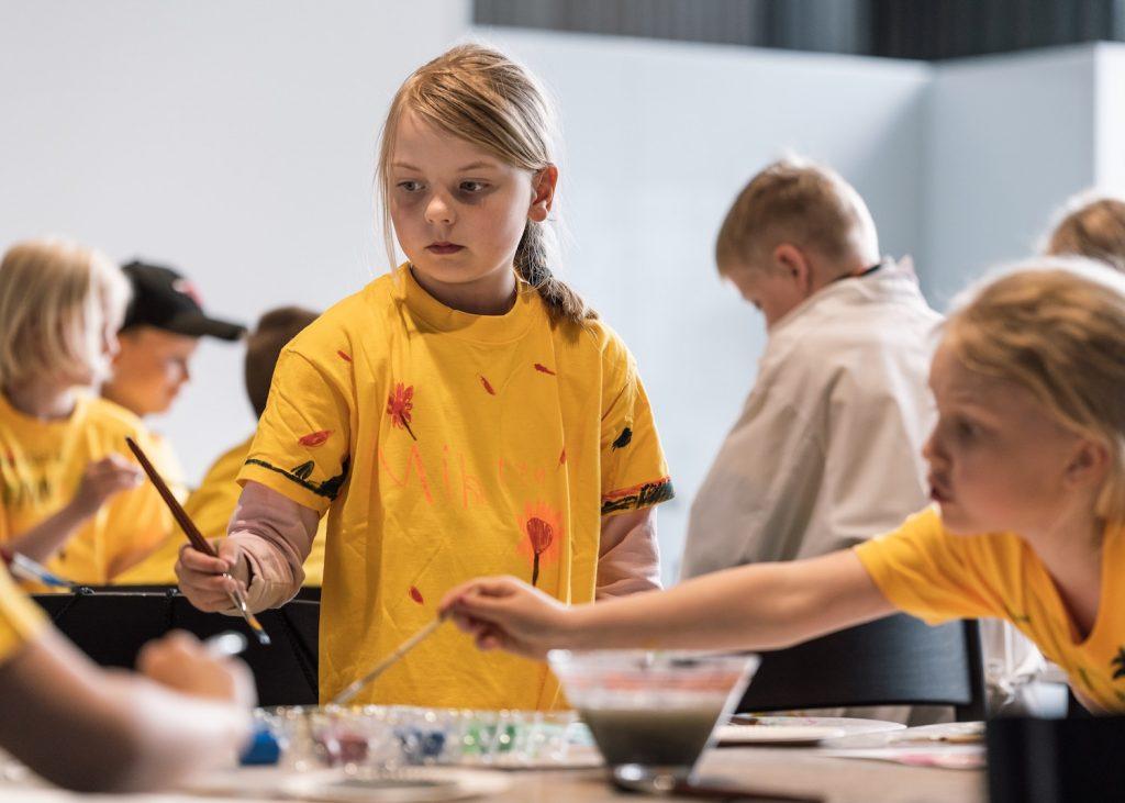 Taidekoulu lapsille Serlachius museossa