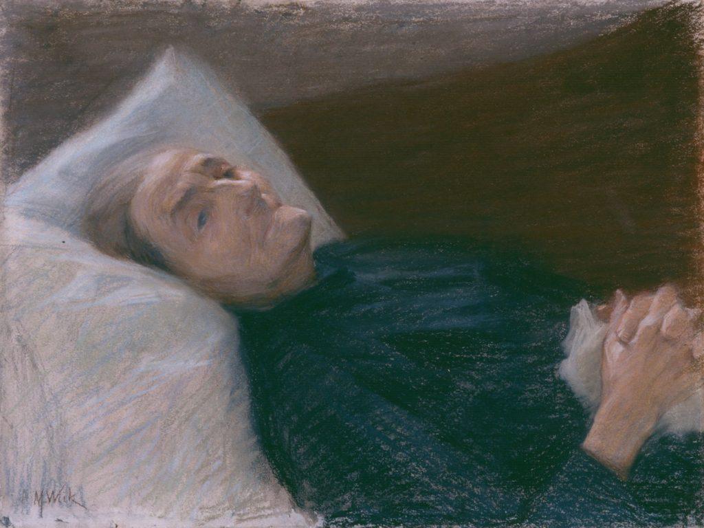 Maria Wiik, Vanha nainen sairasvuoteellaan, n. 1895–96