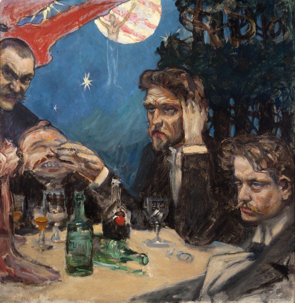 Akseli Gallen-Kallela, Symposion, oil on canvas, 1894. Gösta Serlachius Fine Arts Foundation. Photo: Vesa Aaltonen.