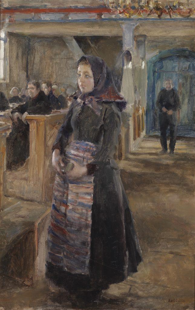 Akseli Gallen-Kallela, Flicka i Keuru gamla kyrka