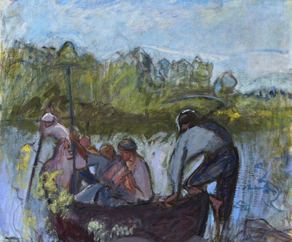Ellen Thesleff, Harvesters in Boat II