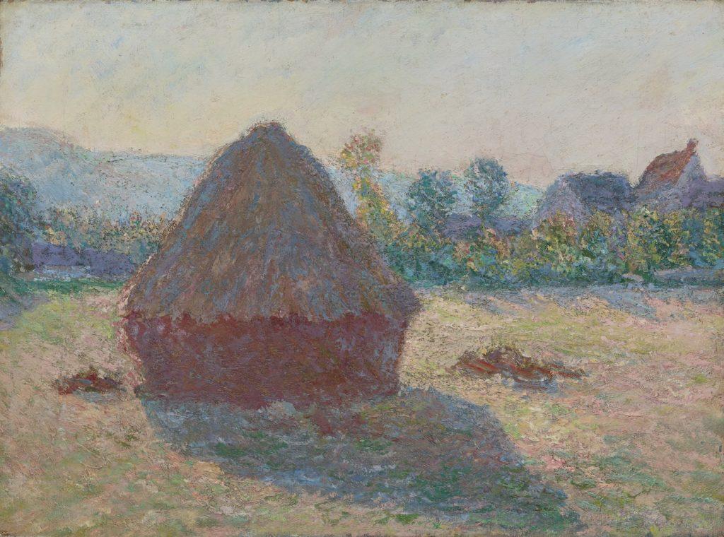 Claude Monet, Heinäsuova ilta-auringossa, 1891, öljyväri kankaalle, Gösta Serlachiuksen taidesäätiö. Kuva: Rauno Träskelin.