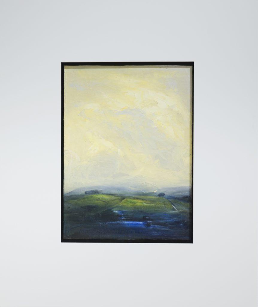 Peter Frie, Heat Painting #4, 2016–2017, öljy kankaalle, Gösta Serlachiuksen taidesäätiö. Kuva: Teemu Källi.