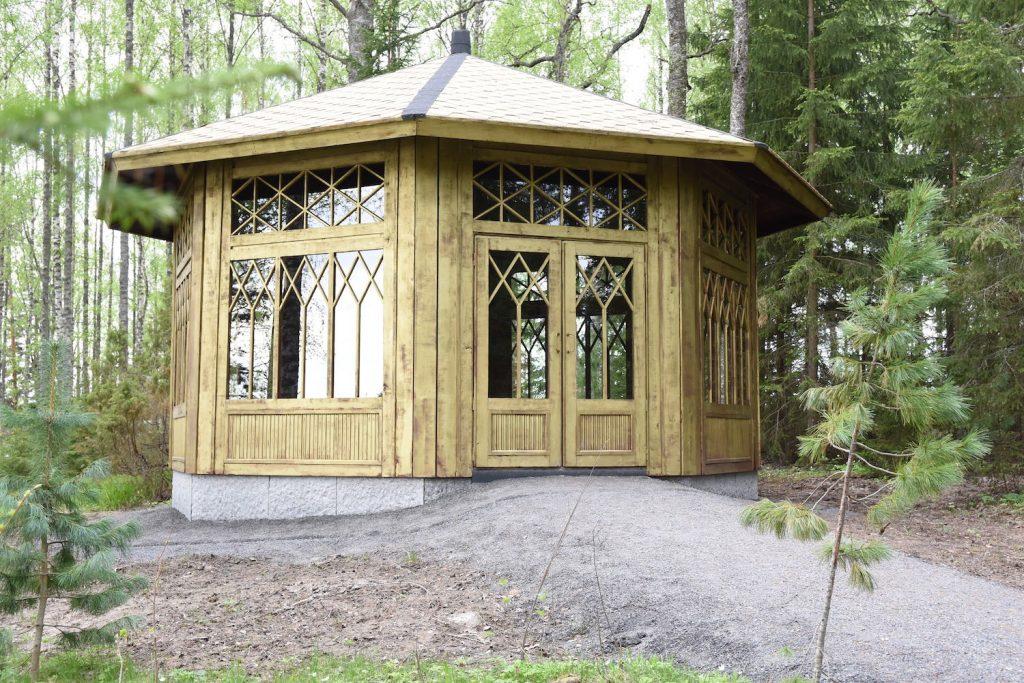 Goldenes Gartenhaus des Serlachius Museums Gösta-