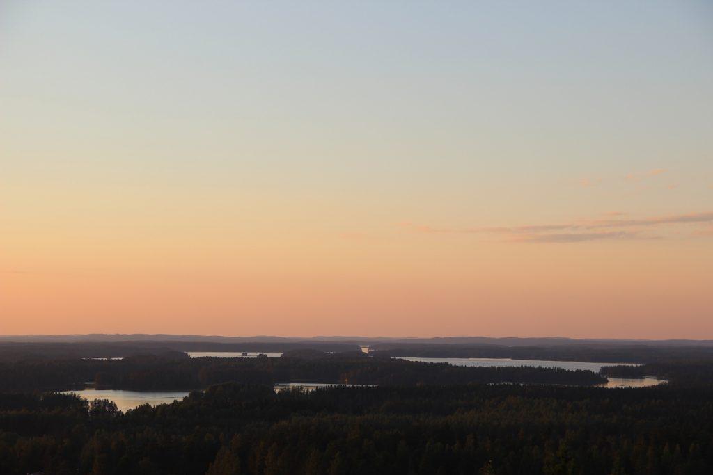 View from Mountain Mäntänvuori over the Lake Keurusselkä in area of the Art Town Mänttä-Vilppula.