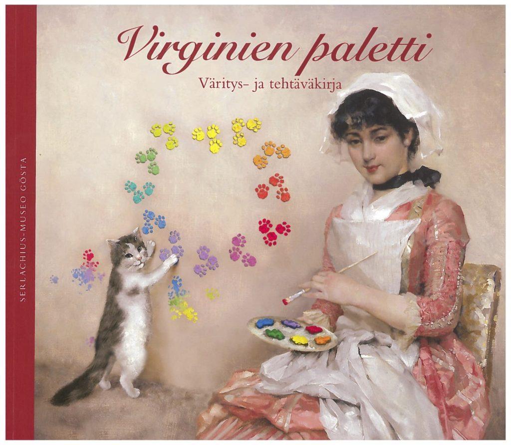 Virginien paletti - Väritys- ja tehtäväkirja, kansikuva. Serlachius-museoiden julkaisuja.