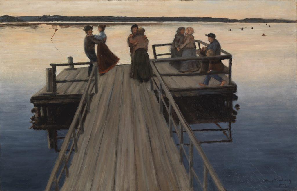 Hugo Simberg, Dance on the Jetty, 1903. Gösta Serlachius Fine Arts Foundation. Photo: Yehia Eweis.