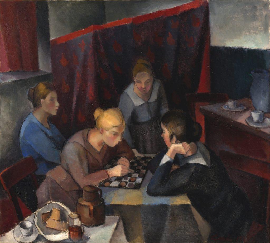 Alvar Cawén, Damespielen, 1929, Öl auf Leinwand, Gösta Serlachius Kunststiftung. Foto:  Hannu Miettinen.