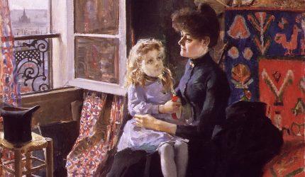 Akseli Gallen-Kallela, Äiti ja lapsi, 1887, öljyväri kankaalle, Gösta Serlachiuksen taidesäätiö. Kuva: Tomi Aho.
