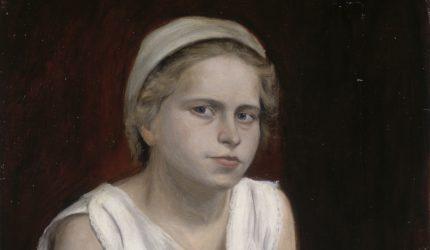 Hugo Simberg, Malli, harjoitelma (osakuva), 1902, öljyväri kankaalle., Gösta Serlachiuksen taidesäätiö. Kuva: Yehia Eweis.
