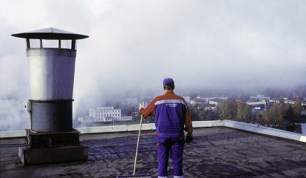 Ville Lenkkeri, Talonmies, 2013–2014, valokuva, Gösta Serlachiuksen taidesäätiö.