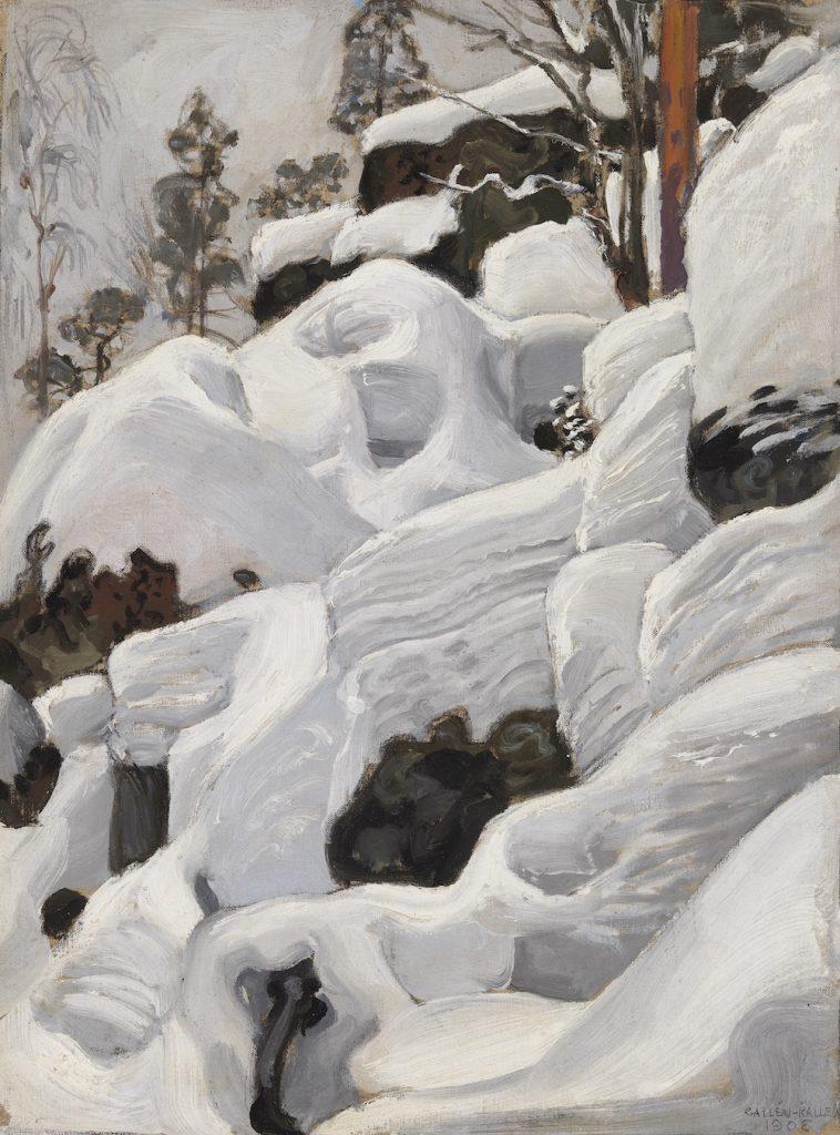 Akseli Gallen-Kallela, Ilvesluola, 1902, öljyväri kankaalle, Gösta Serlachiuksen taidesäätiö. Kuva: Yehia Eweis.