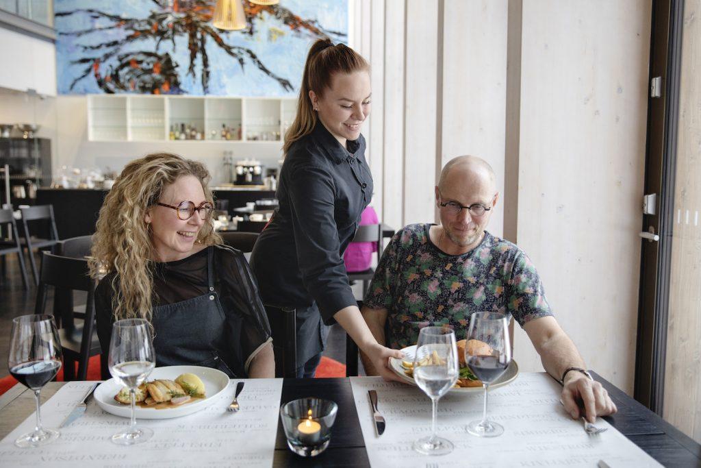 Ravintola Gösta tarjoilua