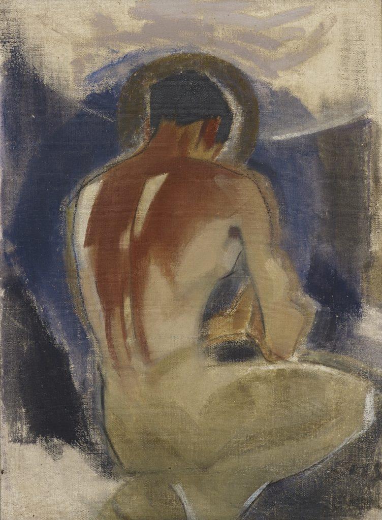Helene Schjerfbeck, Ryöväri paratiisin portilla, 1924–25, öljyväri kankaalle, Gösta Serlachiuksen taidesäätiö. Kuva: Jussi Koivunen.