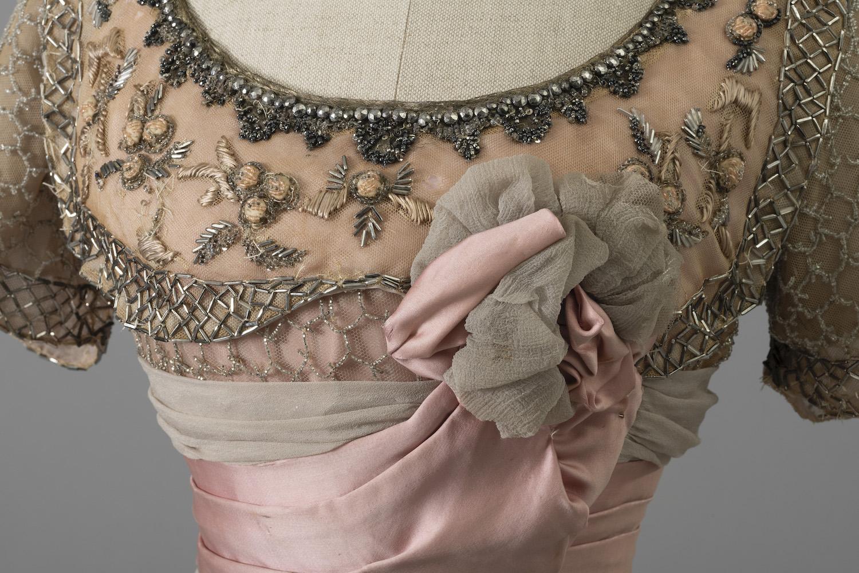 Silvia Mangano's dress (detail) from the film Death in Venice, 1971, direction Luchino Visconti, costumes Piero Tosi. Photo Giorgio Benni. Tirelli Collection.