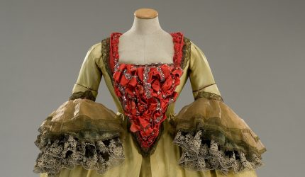 Woman's gown for Fellini's Casanova from the Tirelli Collection exhibited by Serlachius.