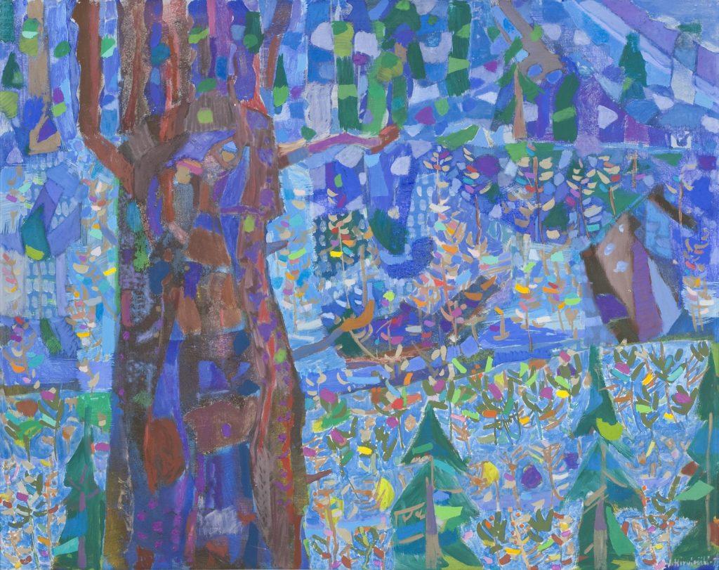 Eero Hirvimäki: Metsässä 1973. Gösta Serlachiuksen taidesäätiö. Kuva: Tomi Aho.