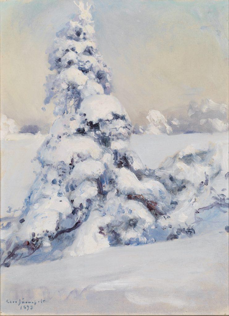 Eero Järnefelt: Luminen kuusi, 1893. Gösta Serlachiuksen taidesäätiö. Kuva: Yehia Eweis.