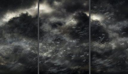 Santeri Tuori, Sky #26, 2015, viisiosainen pigmenttituloste. Kuva: Santeri Tuori
