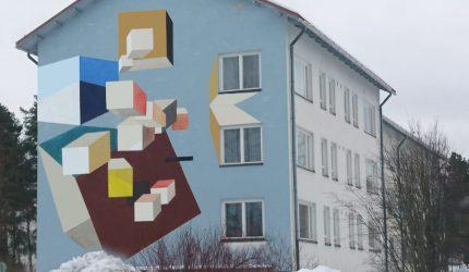 Havainnekuva seinämaalauksesta. Kuva: Tuomas Korkalo.
