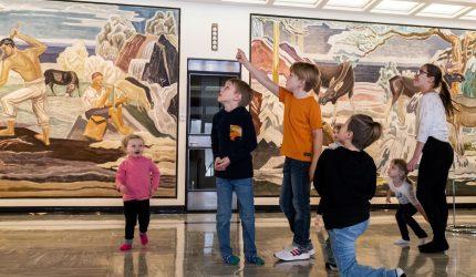 Lapset Serlachius-museo Gustafissa